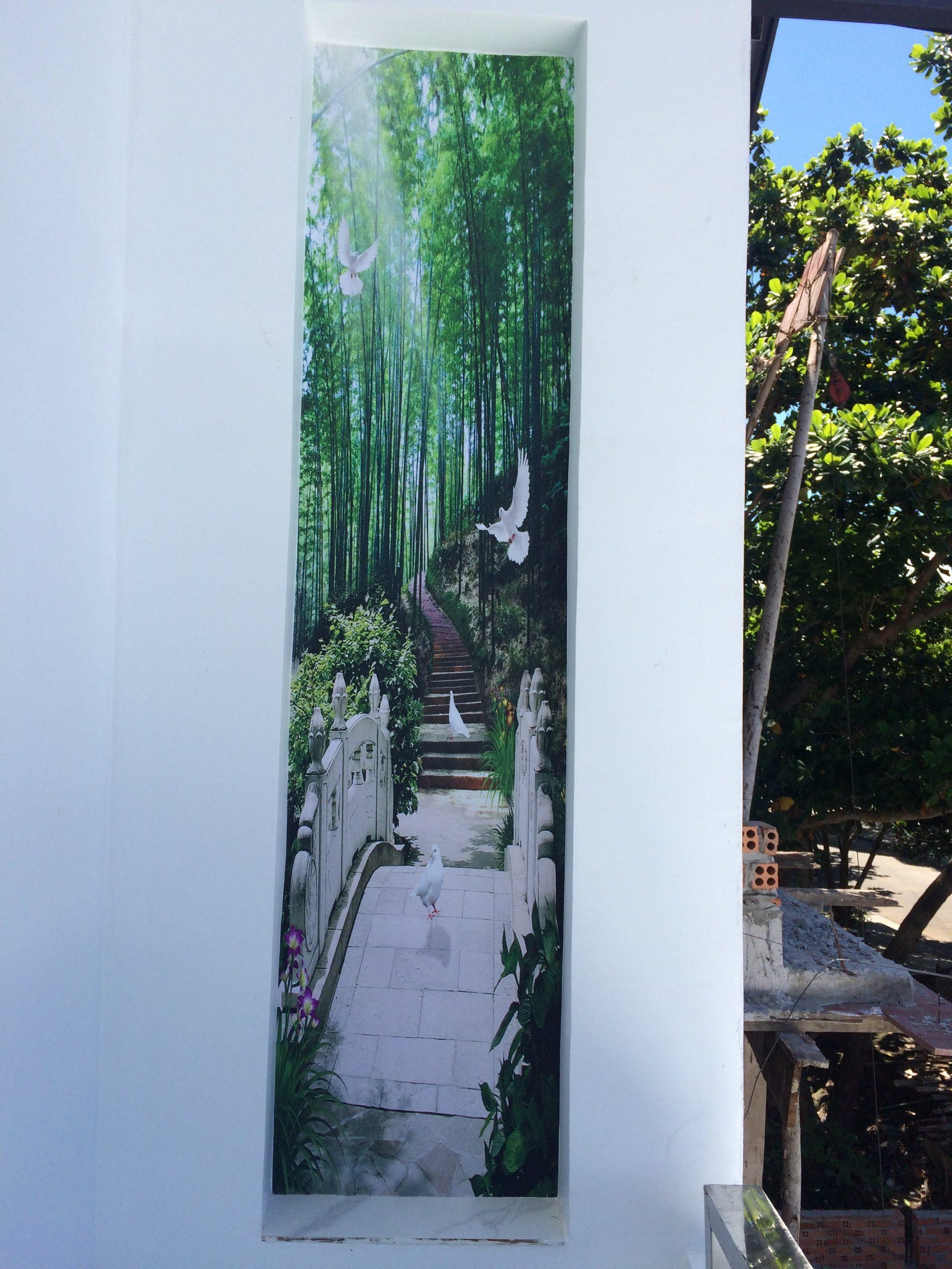 tranh dán tường hình cây tre