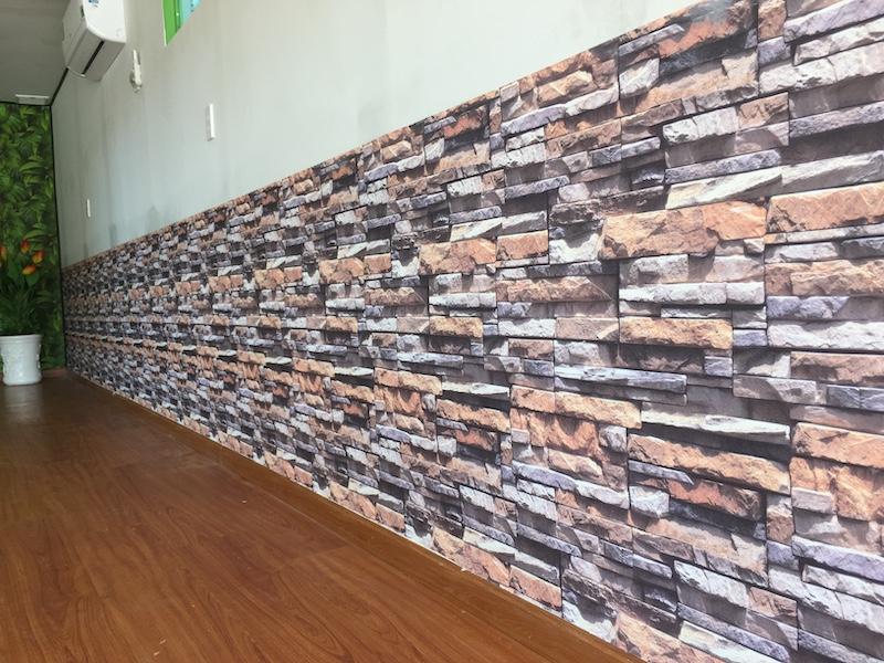 Giấy dán tường giả đá stone & natural