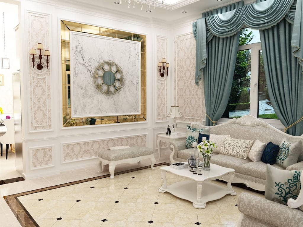 giấy dán tường phòng khách
