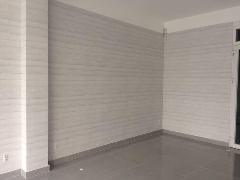 giấy dán tường giả gỗ màu trắng đơn giản cho văn phòng