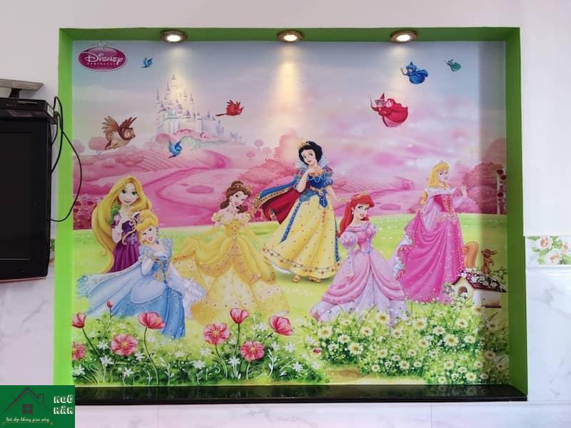 Giấy dán tường phòng trẻ em hình công chúa