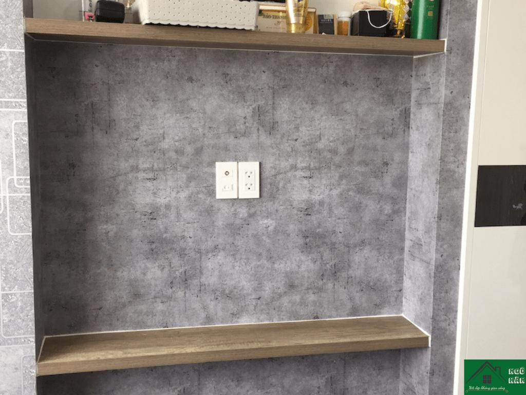 Giấy dán tường giả bê tông cho văn phòng