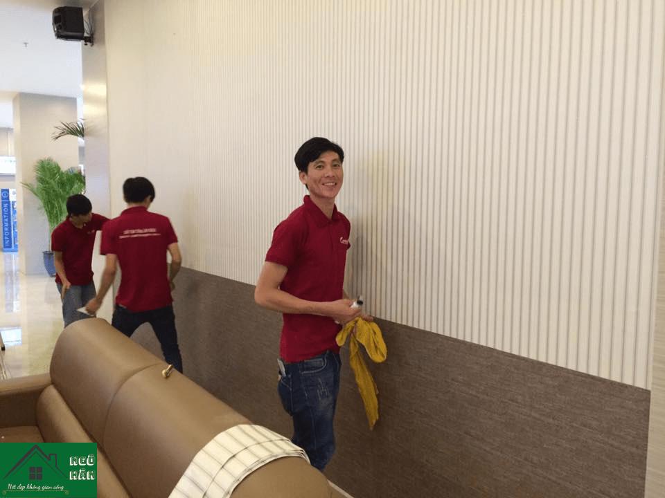 Thi công giấy dán tường quận Tân Bình